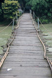 The Simple suspension bridge Royalty Free Stock Photography