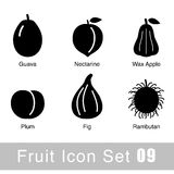 Simple sweet fruit flat icon design, vector illustration Royalty Free Stock Photos