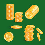 Simple symbol cryptocurrency. Bitcoin - virtual currency. Stack Stock Photography