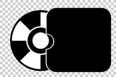 Simple Symbol DVD or CD Royalty Free Stock Photo