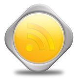 REALLY SIMPLE SYNDICATION RSS BUTTON. Communication Concept,3D&Computer generated Stock Photos
