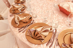 Simple table arragement Royalty Free Stock Photo