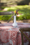 Simple table for outdoor picnic stock photo