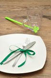 A simple table setting Royalty Free Stock Photo