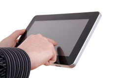A simple tablet and man Stock Photos