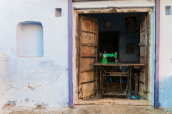 A simple tailoring in Pushkar, India Royalty Free Stock Photography