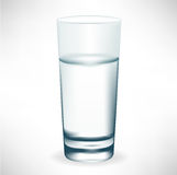 Simple tall glass of water Stock Images