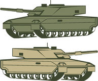 Simple tanks vector. Vector eps Stock Image