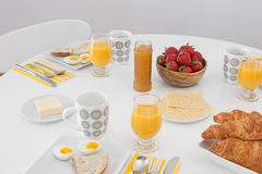 Free Simple Tasty Breakfast On A White Table Stock Images - 31854564
