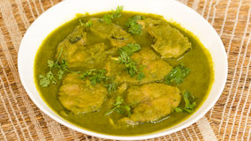 A simple and tasty pomfret curry from goa, India. Stock Photo