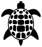 Simple tattoo of a turtle Stock Photography