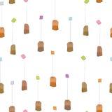 Tea bag pattern Stock Photography