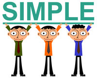 Simple teamwork Royalty Free Stock Photography