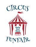 Simple template for circus, funfair poster. Invitation to the show. Vector illustration Stock Photos