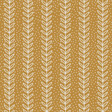 Simple terracotta leaf pattern. Seamless eco background. Hand drawn wallpaper. Stock Photos