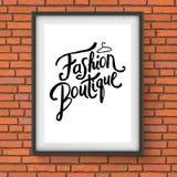 Simple Text Design for Fashion Boutique Concept Stock Photos