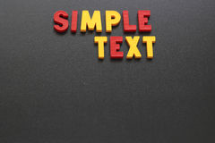 Simple text Royalty Free Stock Image