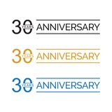 Simple 30th anniversary years logo vector. blue black gold color. Simple 30th anniversary years celebration logo vector. blue black gold color vector illustration