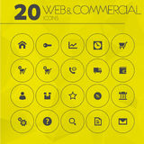 Simple thin web and commercial icons collection Stock Images