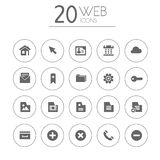 Simple thin web icons collection on white Stock Photo