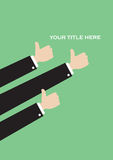Simple Thumbs Up Vector Layout Design Stock Photography