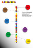 Simple timeline. With rounded elements with simple symbols Royalty Free Stock Images