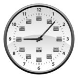 Realistic 12 to 24 Hour Military Time Clock Conversion Isolated Vector Illustration. Simple to read 12 to 24 hour military clock time conversion isolated vector royalty free illustration