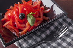 Simple tomato salad Stock Images