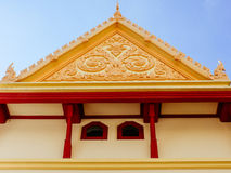 Simple top part at Wat Ratchabopit Stock Photography