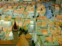 Toy city miniature - Kaliningrad Königsberg royalty free stock images
