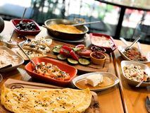 Simple traditional Turkish breakfast royalty free stock photo