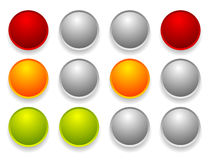 Simple traffic light / traffic lamp set in sequence. Control lig Stock Photo