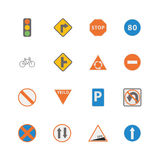 Simple Traffic sign icon Royalty Free Stock Images