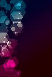 Simple transparent Polygon background Stock Images