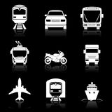 Simple transport icons set Royalty Free Stock Photo