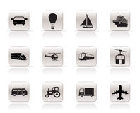 Simple Transportation and travel icons. Vector icon set Stock Photo