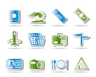 Simple Travel and trip Icons. Vector Icon Set Royalty Free Stock Images