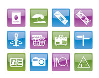 Simple Travel and trip Icons Stock Photo