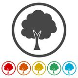 Simple tree icon, Tree Icon  illustration, 6 Colors Included Stock Image