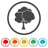 Simple tree icon, Tree Icon  illustration, 6 Colors Included Royalty Free Stock Photos