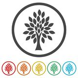 Simple tree icon, Tree Icon vector illustration, 6 Colors Included Royalty Free Stock Photography