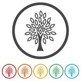 Simple tree icon, Tree Icon vector illustration, 6 Colors Included Stock Images