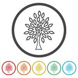 Simple tree icon, Tree Icon vector illustration, 6 Colors Included Royalty Free Stock Image