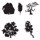 Simple Tree silhouettes Royalty Free Stock Image