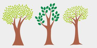 Simple Tree Vector. Tree vector with simple design Stock Illustration