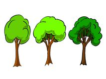 Simple trees in vector Royalty Free Stock Image