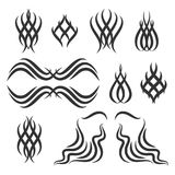 Simple tribal tattoo elements Stock Image