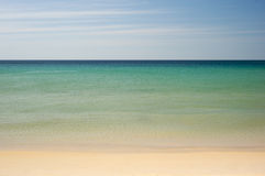 Simple tropical sea, sky and beach Royalty Free Stock Photos