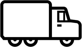 Simple truck icon -  illustration. Vector illustration isolated on white background - Truck Royalty Free Stock Photography