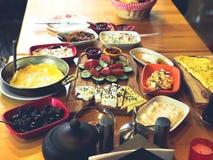 Simple Turkish breakfast royalty free stock photos